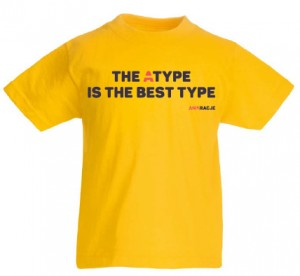 T-shirt dziecięcy: The Atype is the best type