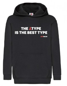 Bluza dziecięca z kapturem: The Atype is the best type